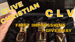 <b>Clive Christian</b> CLV First Impressions + Samples Giveaway CLOSED