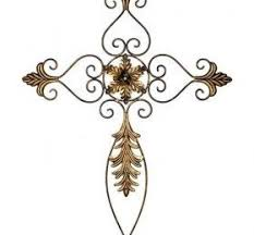 iron wall cross love: this made on the the structure of metal decorative cross on the wall was smartly decorated