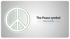 How to draw - the <b>Peace symbol</b> - step by step tutorial (english ...