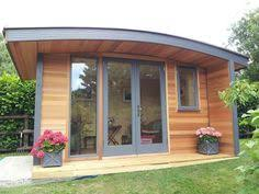 curved roof office build garden office kit