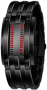 Sanwood Men's Alloy Date <b>Digital LED Bracelet</b> Wrist Watch (Red ...