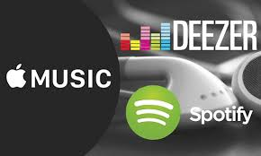 Image result for streaming music deezer spotify apple music