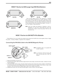 msd ignition wiring diagrams msd 7 series to gm 4 5 and 7 pin hei part 1