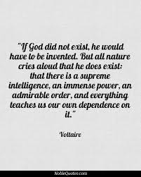 If God did not exist, He would have to be invented. But all nature ... via Relatably.com