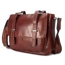 ekphero® <b>genuine leather</b> shoulder bag oil wax first layer <b>cowhide</b> ...