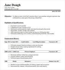 resume sample sous samples work history cook resume sample chef resume chef resume objective