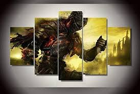 Dark souls game print poster canvas decoration 5 ... - Amazon.com