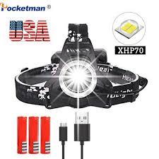 200000lm <b>xhp70</b> Led Headlamp Rechargeable Headlight Head ...