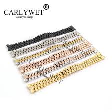 <b>CARLYWET 20mm Silver</b> Black Middle Gold Solid Curved End ...