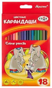 Купить <b>ГАММА Карандаши цветные Мультики</b> 18 цветов ...