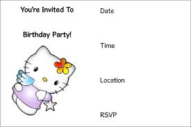 Free Printable Birthday Invitation Templates | Kids Birthday ... ... Hello Kitty Free Printable Birthday Invitation Templates