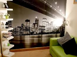 New York Theam Room Decor  Shelf Unit New York Wall Mural - Bedroom wall murals ideas