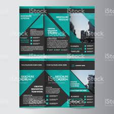 green elegance business trifold business leaflet brochure flyer 1 credit