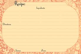 Free Templates Choose From 100s Of Examples Recipe Card Templates Excel Pdf Formats