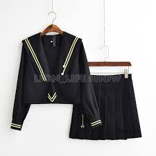 <b>Japanese Jk</b> High <b>School Sailor</b> Uniform Set Star Blouse Skirts ...