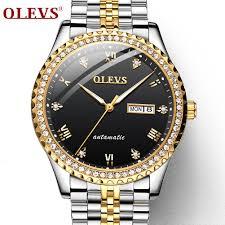 OLEVS Fashion <b>Automatic Mechanical</b> Watch Luminous <b>Waterproof</b> ...