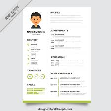 graphic designer resume template vector green resume template
