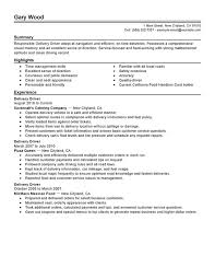 unforgettable delivery driver resume examples to stand out    delivery driver resume sample