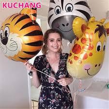 1PC Large Size Animal Head <b>Foil Helium Balloon Unicorn</b> Lion ...