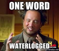 One word Waterlogged - Ancient Aliens | Meme Generator via Relatably.com