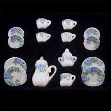 15pcs/set <b>Baby</b> Tea Sets Dollhouse Miniatures <b>Mini House</b> Furniture ...
