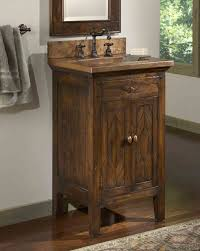 bathroom layout ideas rustic wooden vanity: the cobre petite antique bathroom vanity has style to spare with rich wood tones