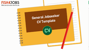 generic cv template career advice expert guidance fish4jobs