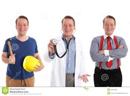 career choice concept as doctor medic or builder stock photo career choices royalty stock photos