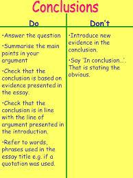 Essay Conclusion Starting Sentences   Essay