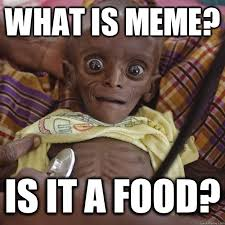 WHAT IS MEME? IS IT A FOOD? - Hungry African Child - quickmeme via Relatably.com