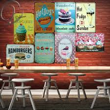 Hamburgers <b>Hot Dogs</b> Cupcakes <b>Wall Stickers</b> Home Kitchen Wall ...