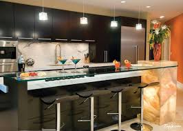 astounding small kitchen with bar design and small pendant lamps astounding kitchen pendant