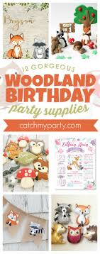 12 Gorgeous <b>Woodland Birthday Party Supplies</b> | Catch My <b>Party</b>