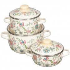 <b>Набор эмалированной посуды СтальЭмаль</b> Луговые цветы ...