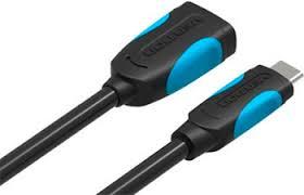 <b>Адаптер</b>-<b>переходник Vention USB Type</b> CM/ OTG USB 3.0 AF, гибкий