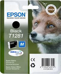 <b>Картридж Epson</b> T1281 (<b>C13T12814011</b>), черный, для струйного ...