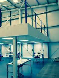 hampshire mezzanine floor complete with fire rated suspended ceiling facia and column casings www agri office mezzanine floor