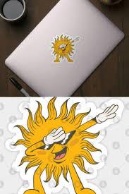 <b>Dabbing Sun</b> Sticker | Vacation gift, Summer celebration, Holiday