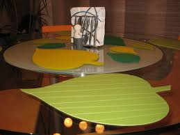 felt tablemats original table mats leaf shaped place mats for round dining table