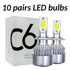 <b>ASLENT 10 pairs/lot C6</b> Wholesale Car Headlight H7 LED H4 Bulb ...