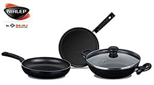 Nirlep by Bajaj Electricals Sakhi Induction-Base Non-Stick <b>3</b>-<b>Piece</b>...