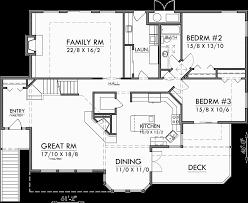 Sloping Lot House Plans  Daylight Basement House Plans  LuxuryMain Floor Plan for Sloping lot house plans  daylight basement house plans  luxury