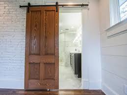 sliding door in bathroom entryway barn style sliding doors