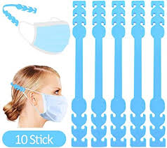 Falucky <b>adjustable anti-slip mask</b> extension hooks, pack of 10 mask ...