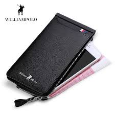<b>WILLIAMPOLO 2019</b> Casual <b>Cow Leather</b> Cash Holder 22 Credit ...