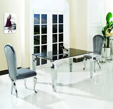 high quality glass top dining table with stainless steel frame dining best quality dining room furniture