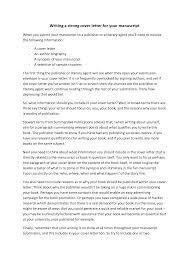 manuscript cover letter resume badak manuscript cover letter example