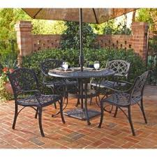 patio dining: home styles biscayne  piece aluminum patio dining set