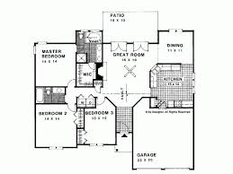 Eplans Ranch House Plan   Traditional Style Ranch Home      Level