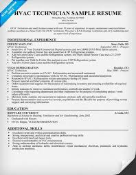 hvac technician resume sample resumecompanioncom hvac technician sample resume